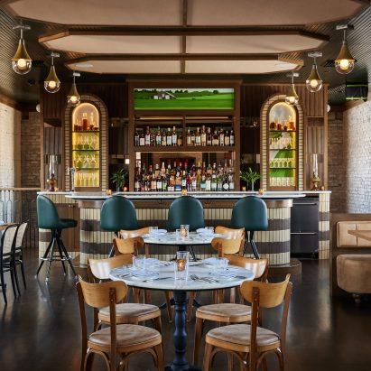 Harvey House restaurant interior