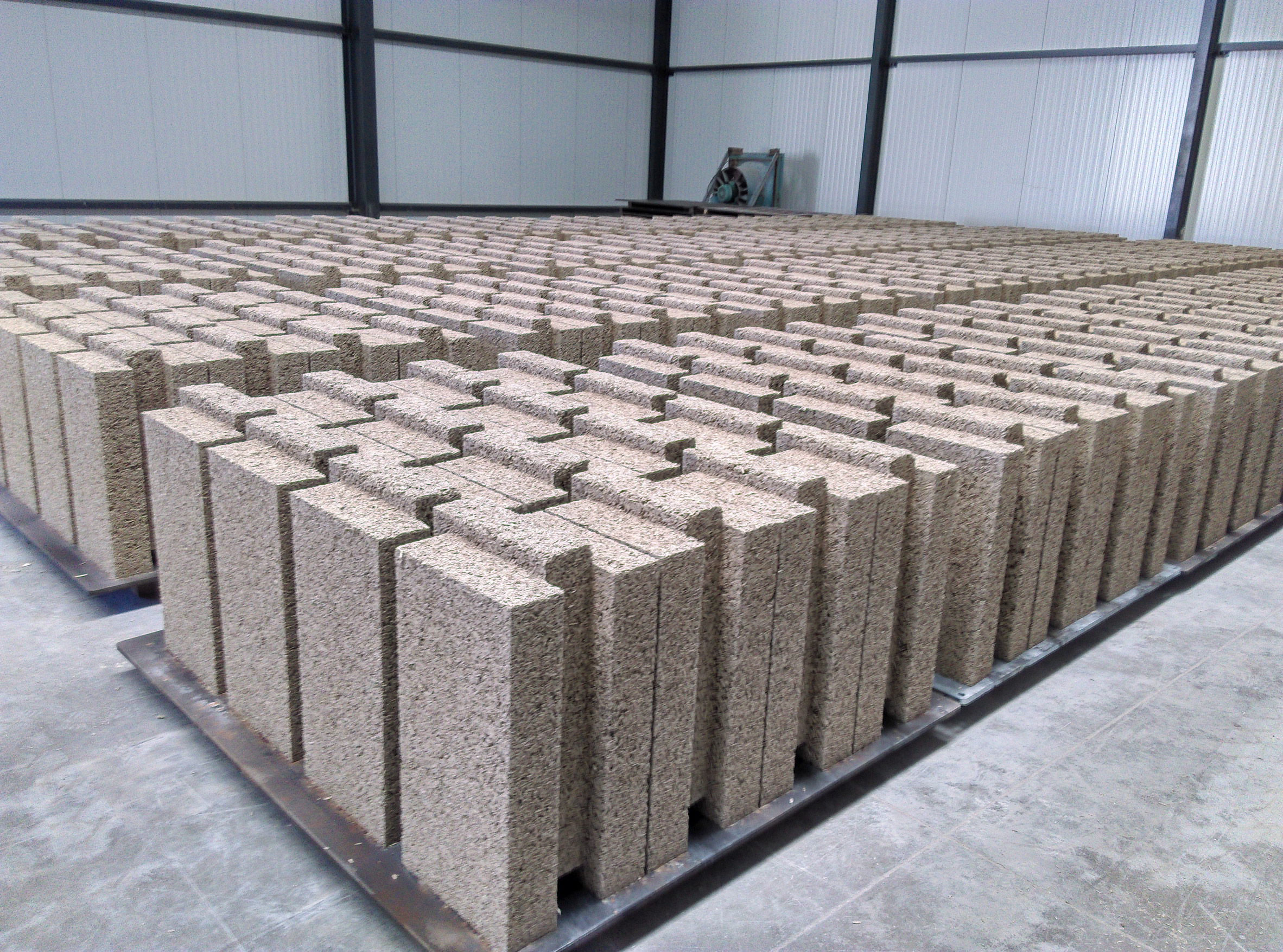 Image of the blocks used at the Pierre Chevet sports hall