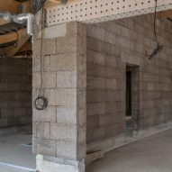 picture of the pierre chevet sports hall during consruction
