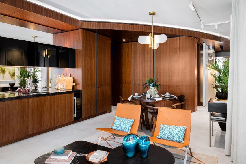 Bowler James Brindley interiors in London apartment