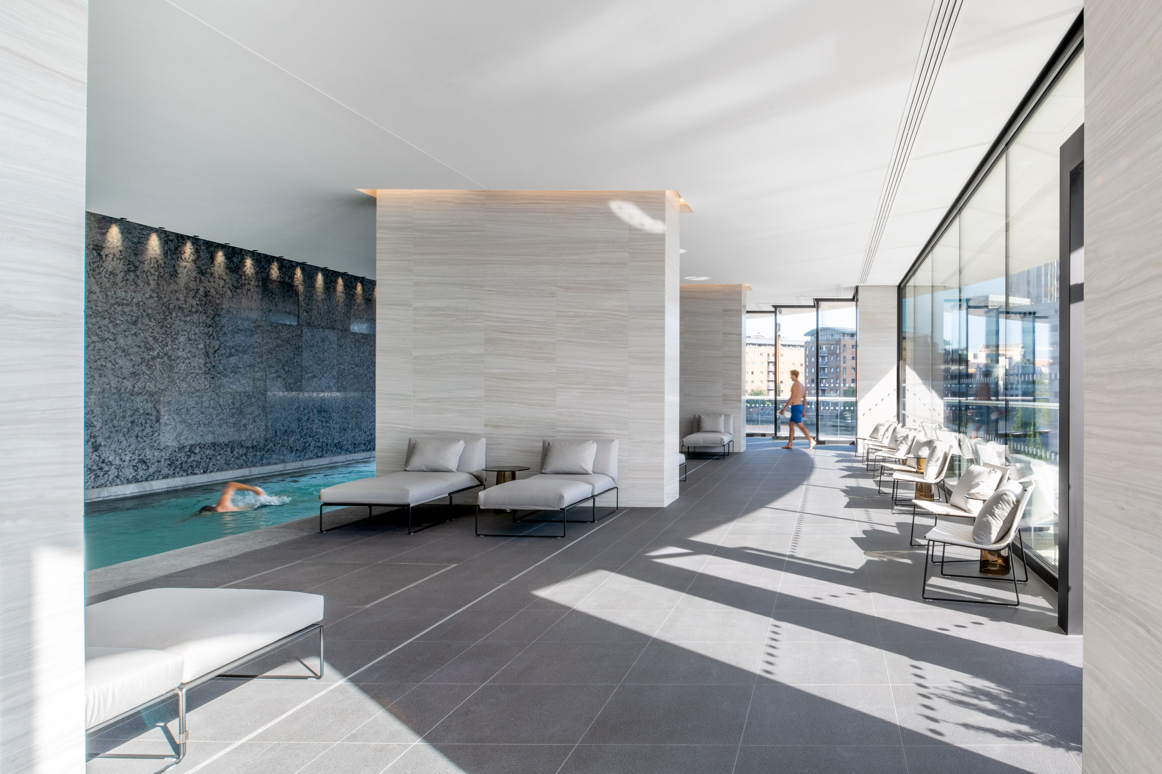 Gym with swimming pool