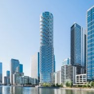 Cylindrical skyscraper by Herzog & de Meuron unveiled in Canary Wharf