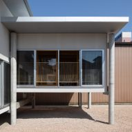 Concrete stilts protect House in Takaoka from extreme weather