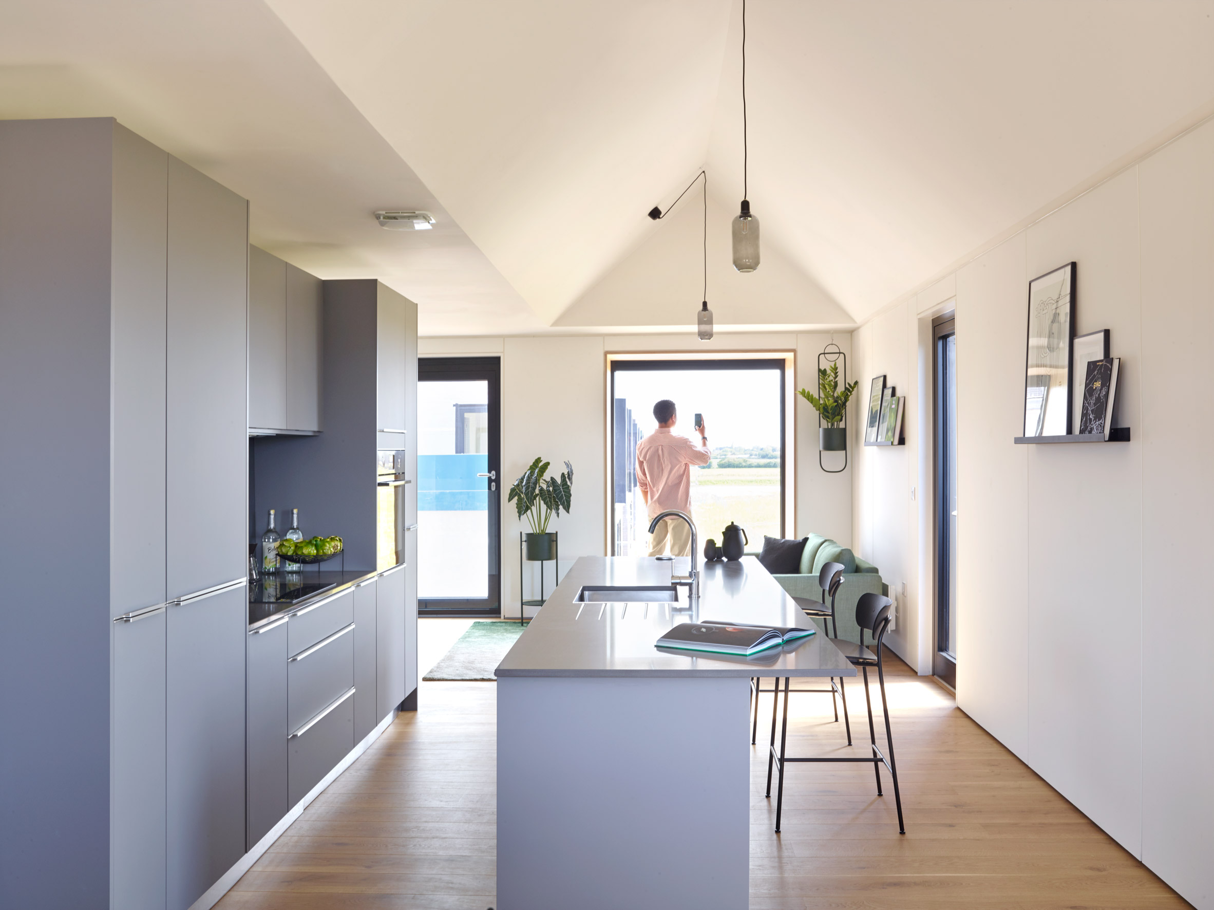 Town House show home kitchen at Inholm by House by Urban Splash