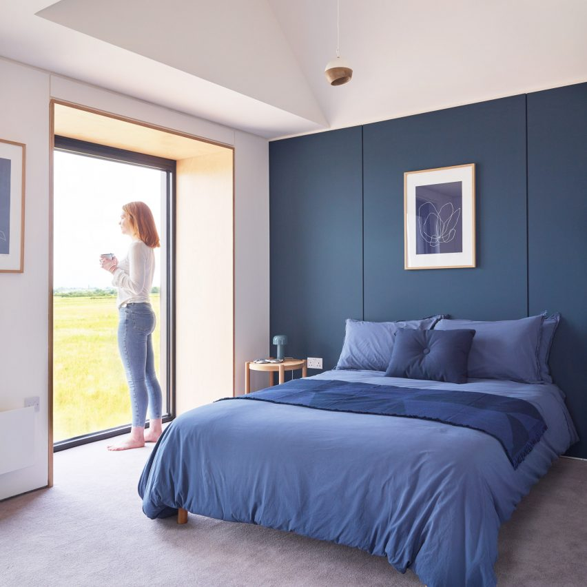 Town House show home bedroom at Inholm by House by Urban Splash