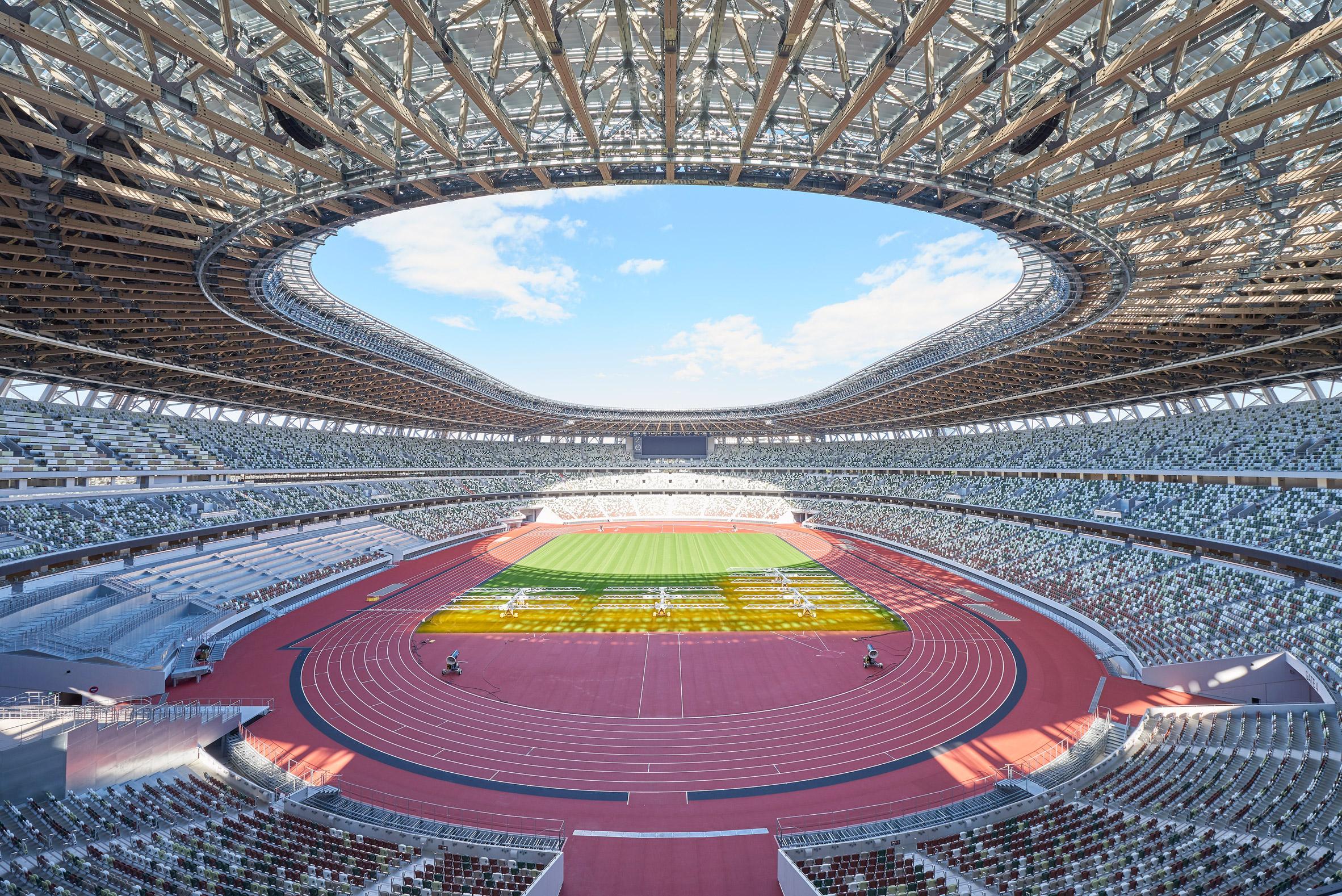 Inside the Tokyo National Stadium