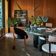 """Kelly Wearstler's Malibu Surf Shack is adorned with """"rustic and raw"""" decor"""