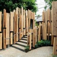Kengo Kuma reveals cedar-clad public toilet in Tokyo