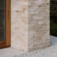 A pale brick wall