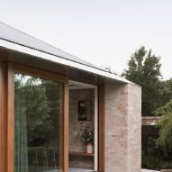 The brick exterior of Kyneton House by Edition Office