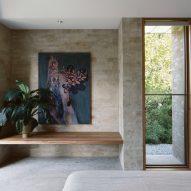 A bedroom inside Kyneton House by Edition Office