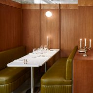Lizée-Hugot uses leather and tubular steel to channel the 1970s in Parisian eatery