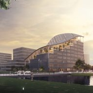 """MVRDV unveils terraced LAD headquarters in Shanghai designed as """"agricultural oasis"""""""