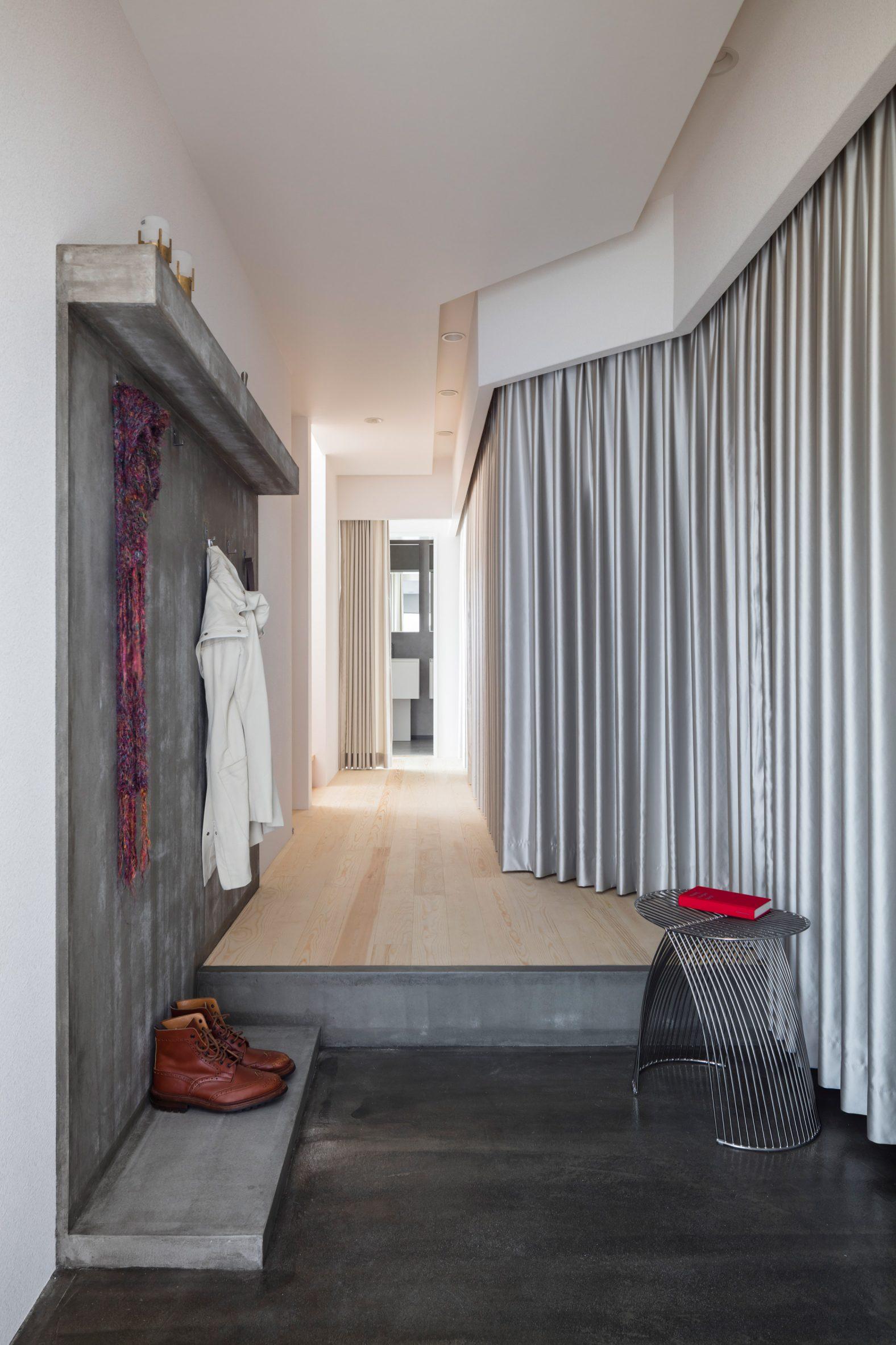 A residential hallway