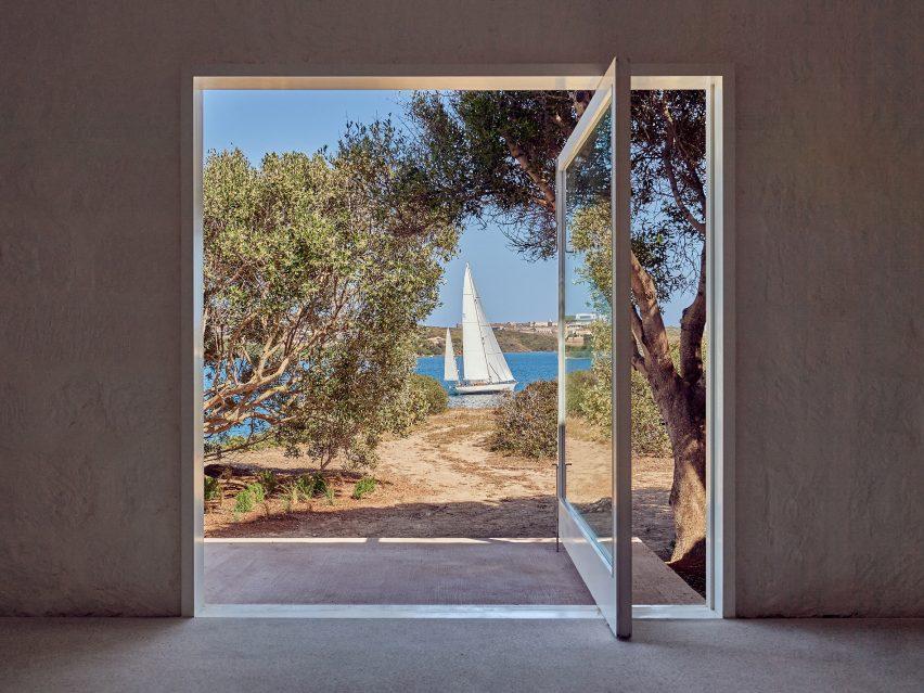 The gallery overlooks the sea