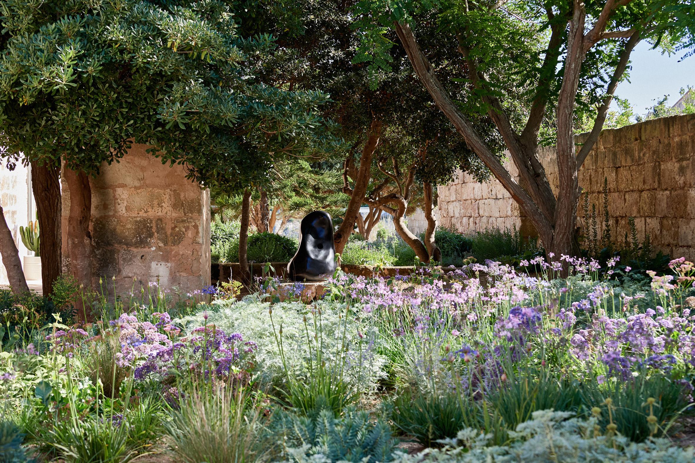 The gardens contain a sculpture trail