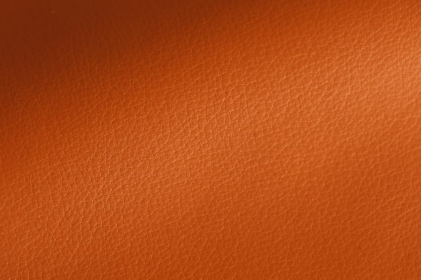 Close-up of texture on Leap leather