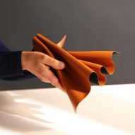 Leap is a vegan leather made from waste apple cores and skins