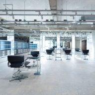 Schemata Architects designs Osaka hair salon to recall an industrial facility