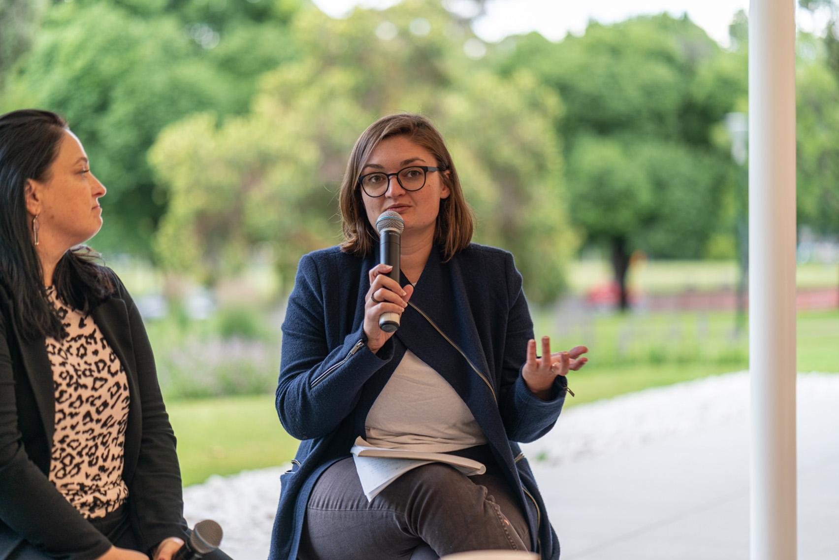 Sarah Lynn Rees speaking at BLAKitecture forum
