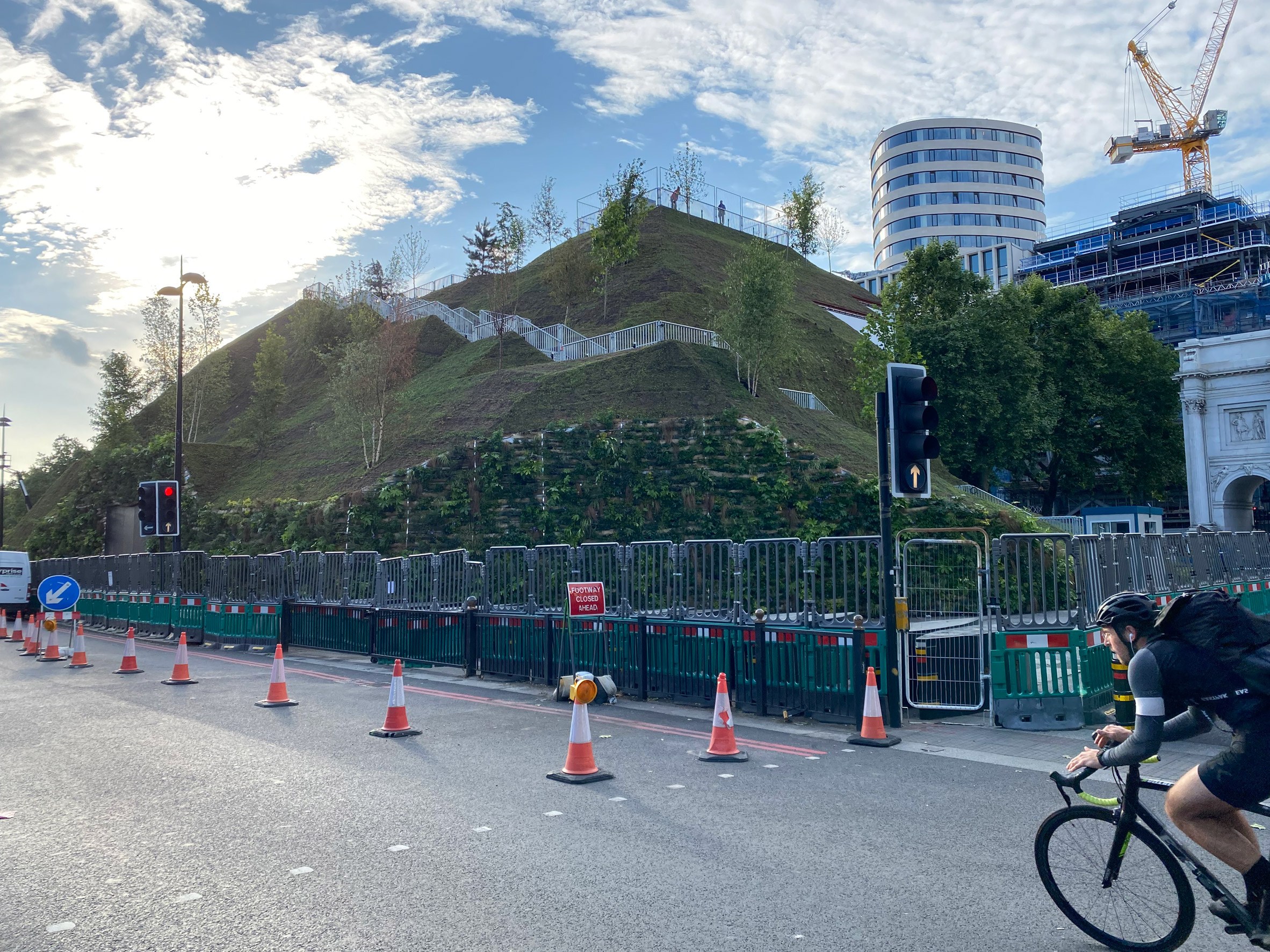 Artificial hill by Marble Arch