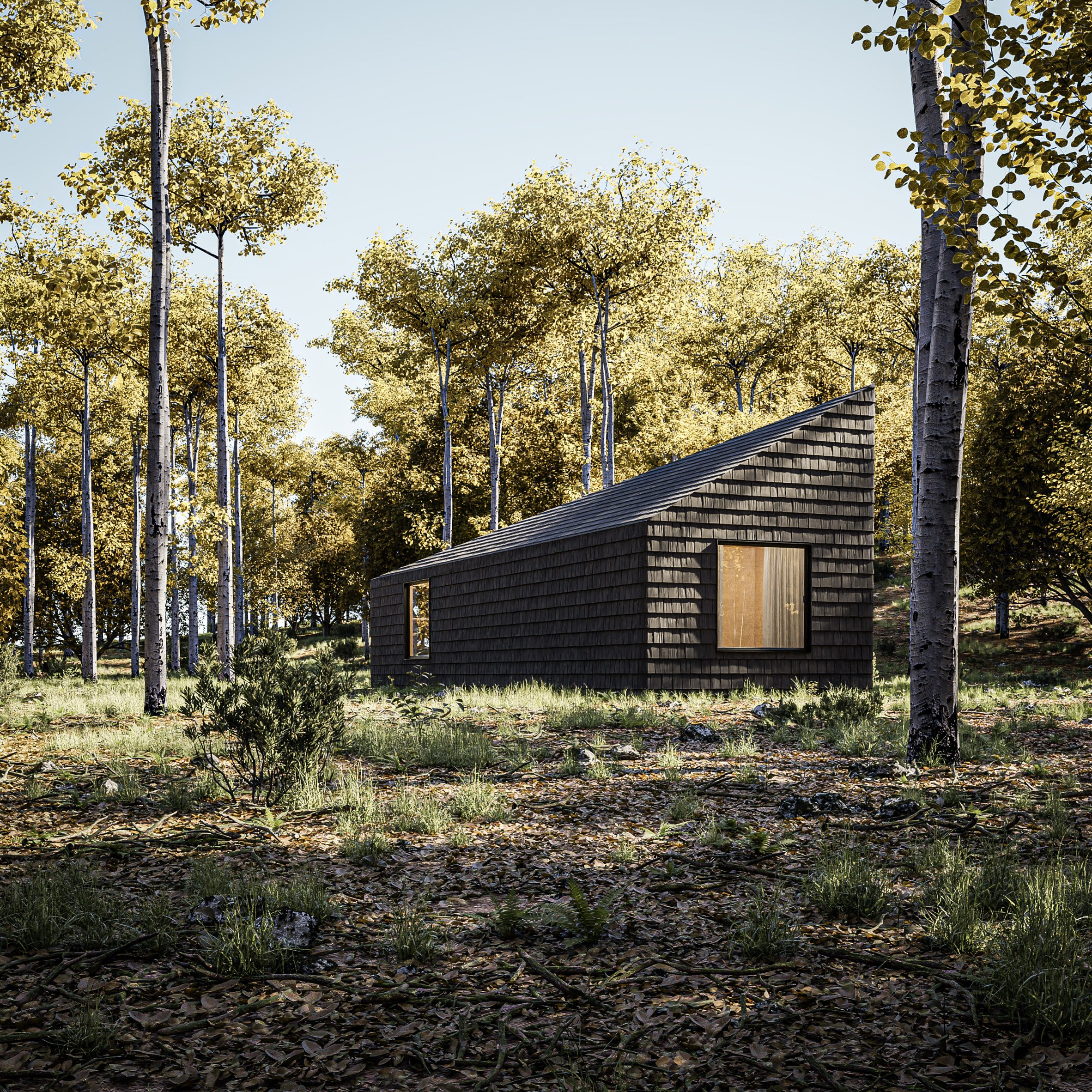 The cabins will function off-grid