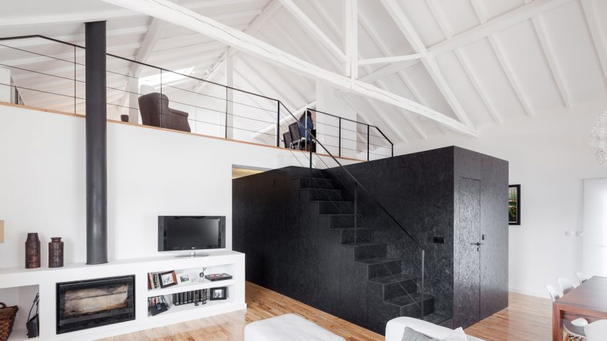 Black box volume with built in stairs