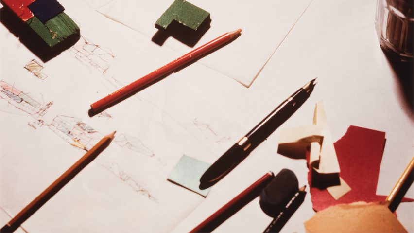 View of a drafting table