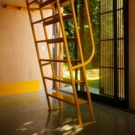 Detachable yellow ladder
