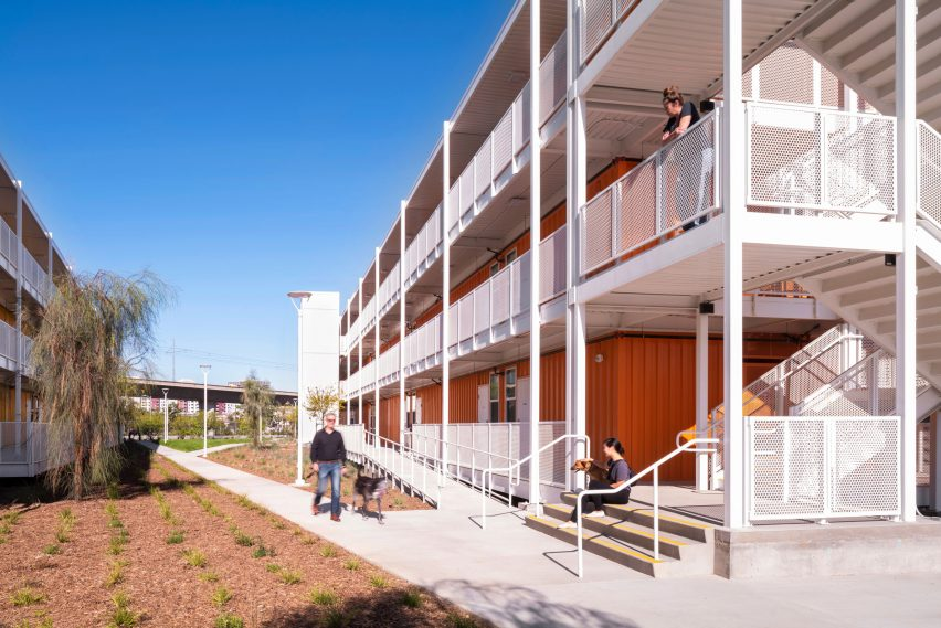 The shipping container apartments are called The Hilda L Solis Care First Village