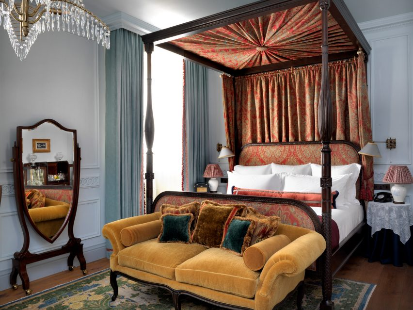 A hotel bedroom designed by Soho House