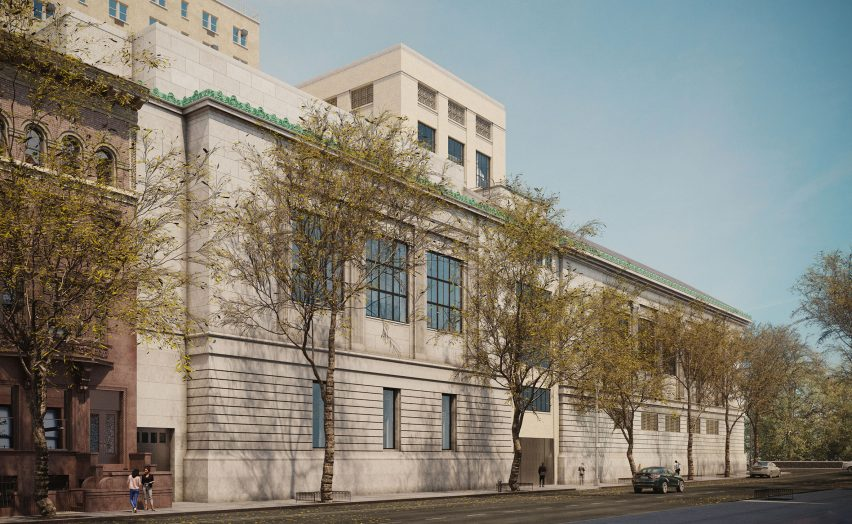 New-York Historical Society expansion from West 76th Street