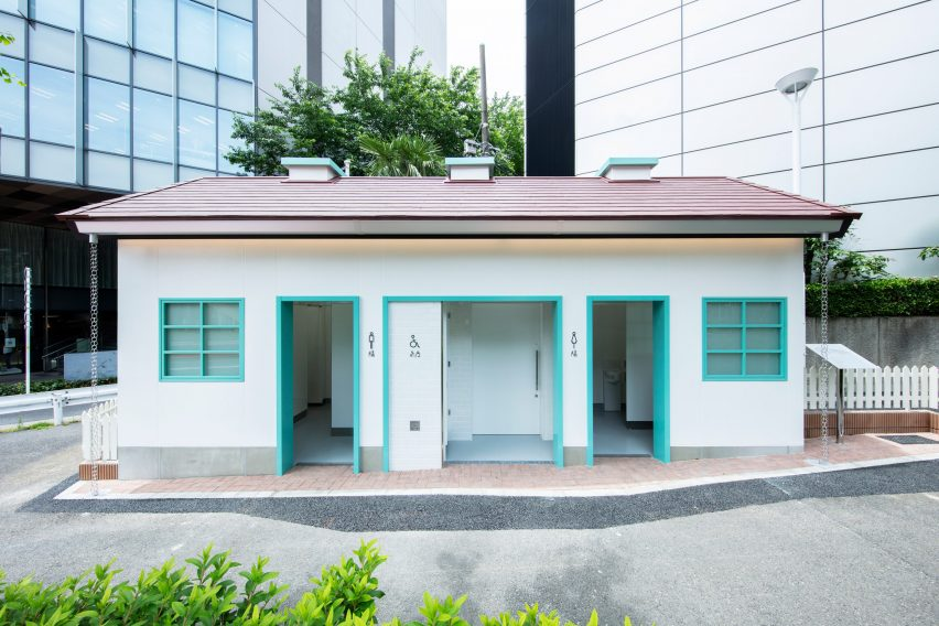 House-shaped toilet in Tokyo
