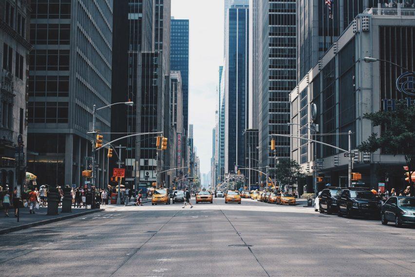 An avenue in Manhattan