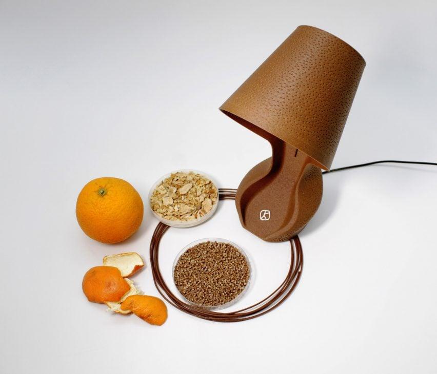 ohmie lamp made from orange peel