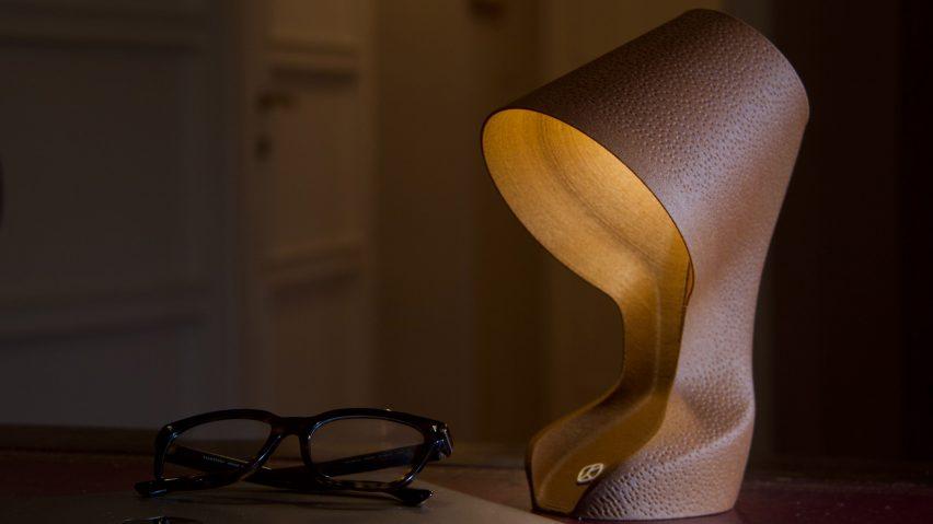ohmie lamp made from orange peels