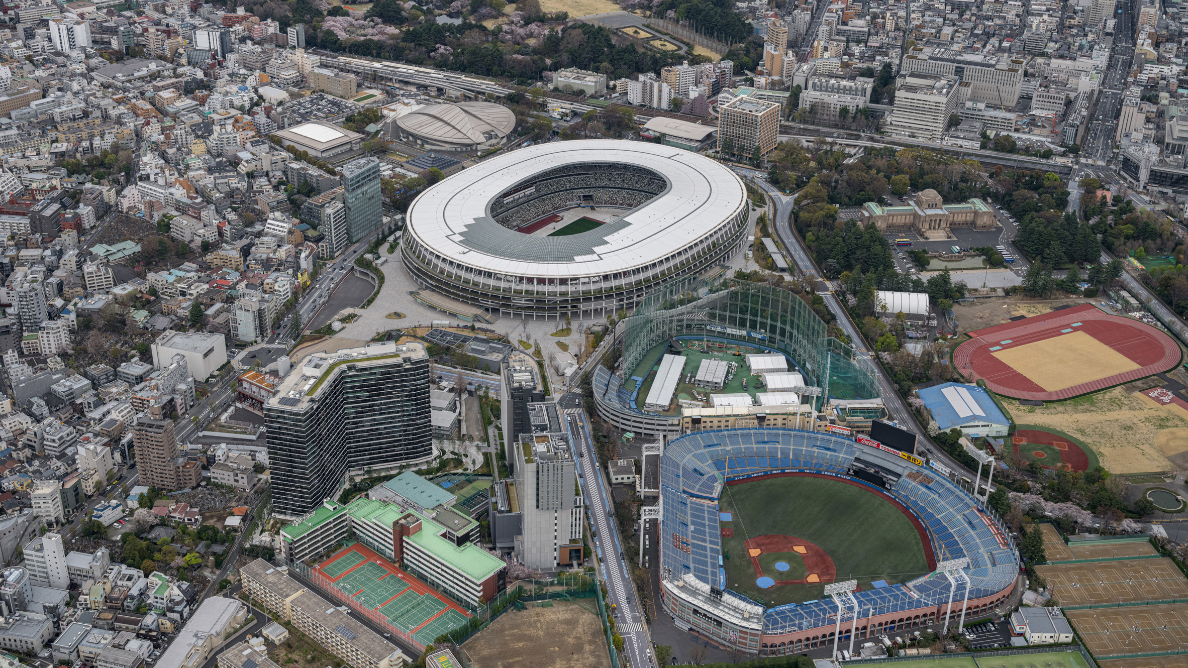 Tokyo Olympic Stadium from above