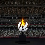 Nendo creates spherical Olympic cauldron with hydrogen flame