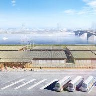 Concept image of the Olympic Village Plaza