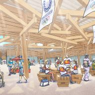 Interior concept image of the Olympic Village Plaza