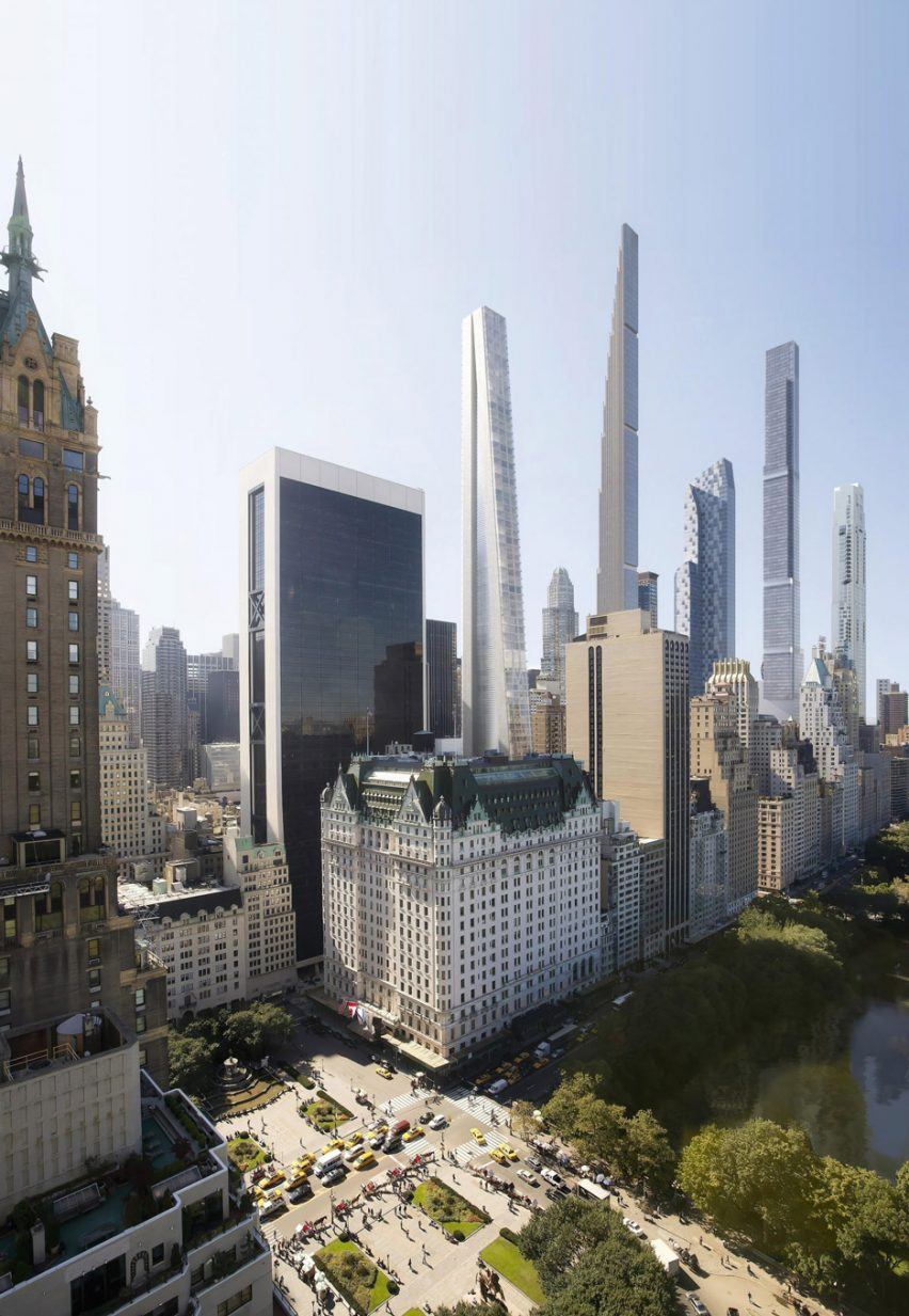 Render of a New York supertall skyscraper by OMA