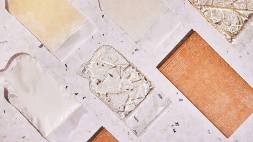 On Repeat biodegradable sachets of liquid