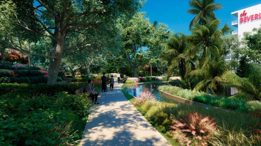 Botanic Gardens of One Beverly Hills