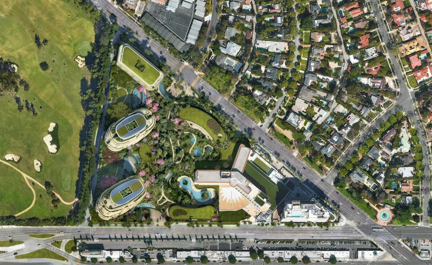 Foster + Partners masterplan for a site in Beverly Hills