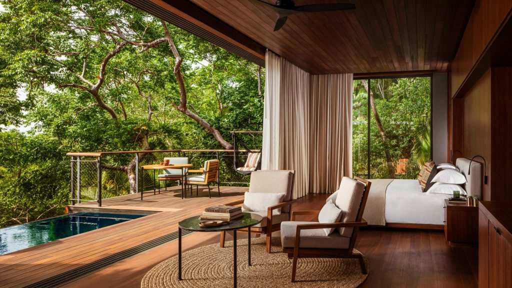 Tropical treehouses and villas form Mexico's One&Only Mandarina hotel