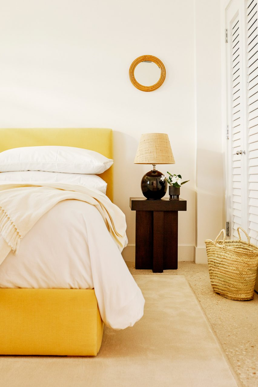 The lookbook features hotel bedrooms