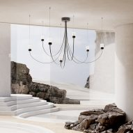 """Paul Cocksedge's new chandelier for Moooi is """"shaped by gravity"""""""