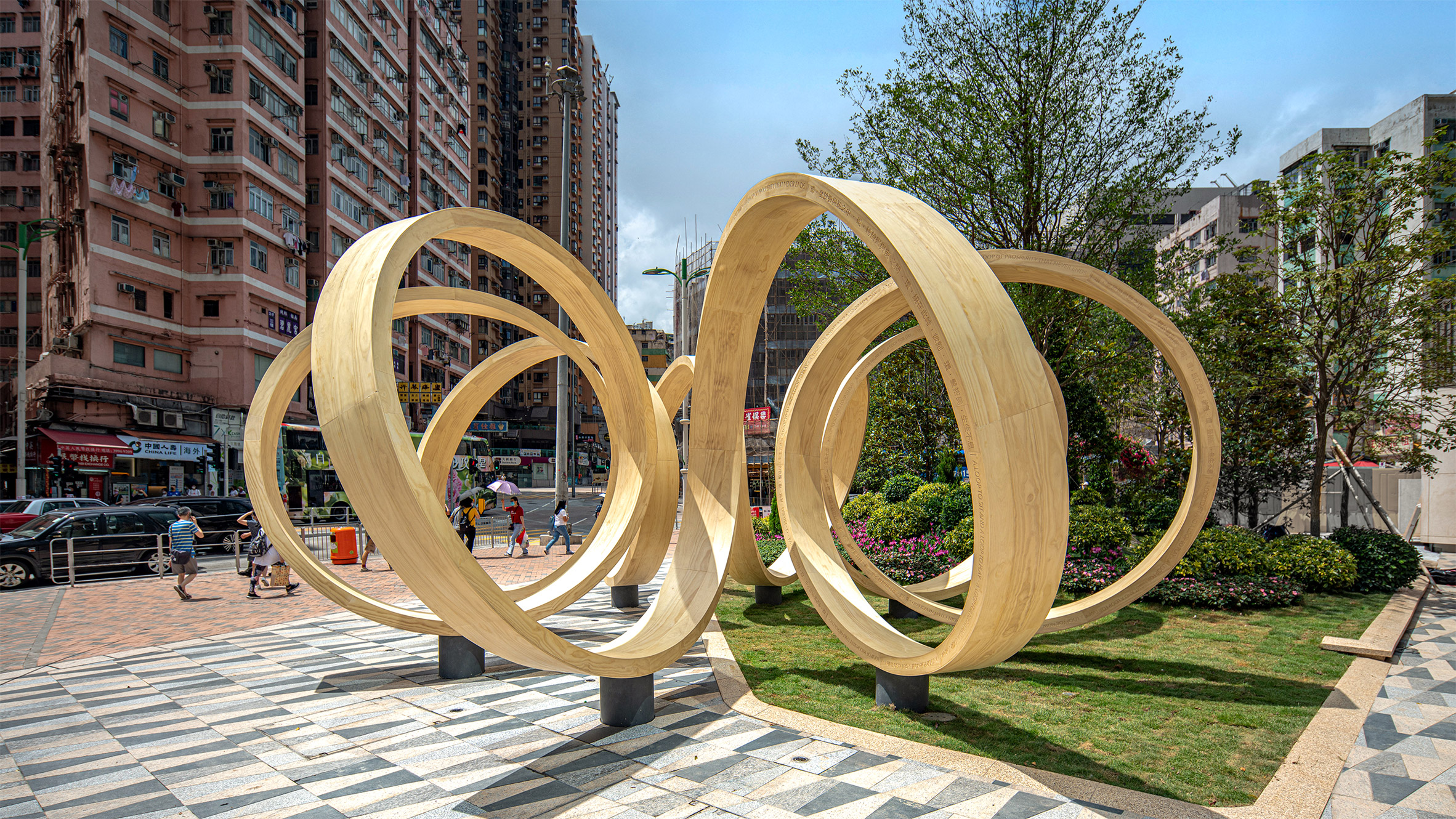 time loop in a square in hong kong