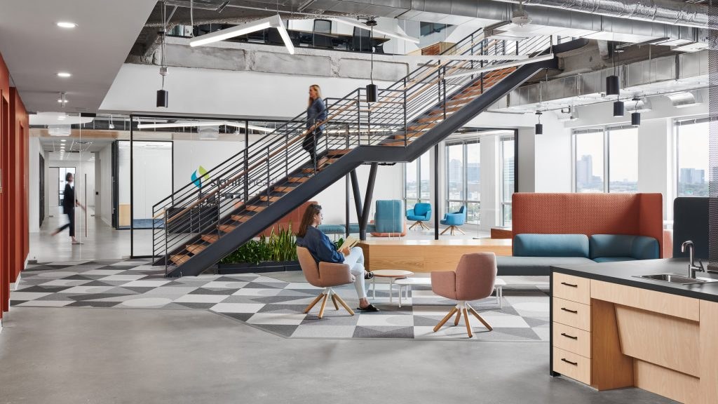 """Perkins&Will designs interiors with """"sense of connectivity"""" for office in Texas"""