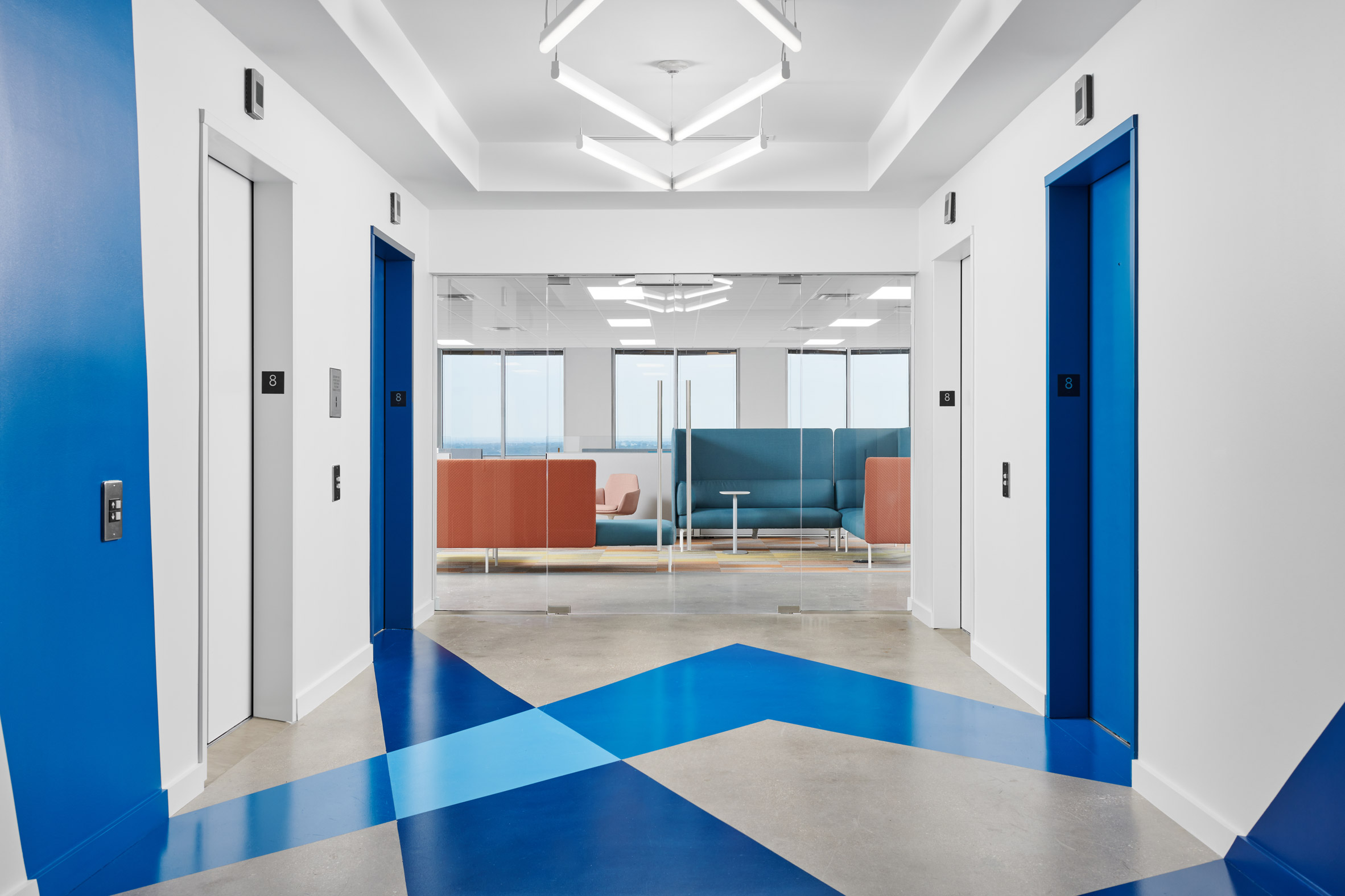 Perkins&Will used Signify's brand colours in the space